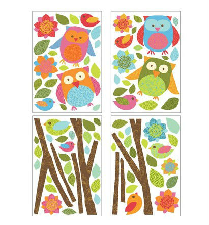 Wall Decals Owls and Branches