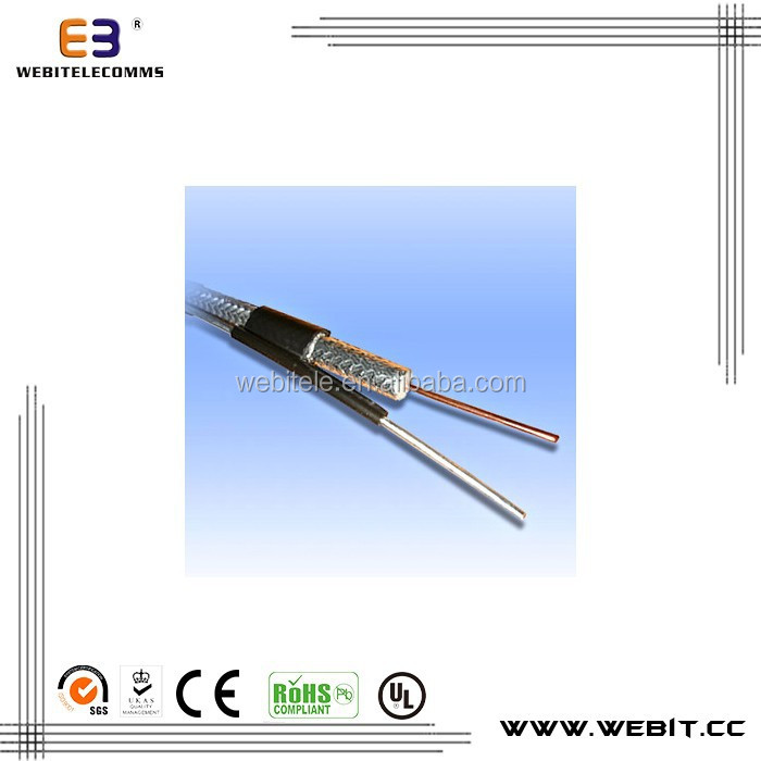 Coaxial cable,CCS/BC/TC material for CCTV&CATV RG59 WITH MESSENGER Coaxial cable