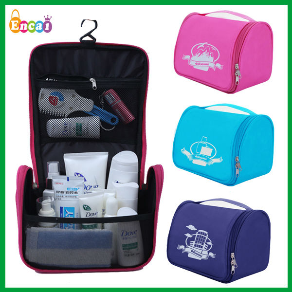 Encai New Style Good Quality Travel Hanging Hotel Toiletry Kits/Cosmetic Bag/Waterproof Bath Organizer Bags