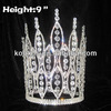 9 inch Pageant Crowns With Big Clear Diamond