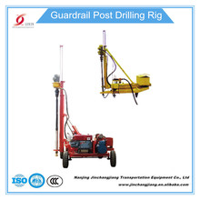 2017 China Diesel portable mini highway guardrail post drilling rig driller pavement drilling machine used on sale good quality