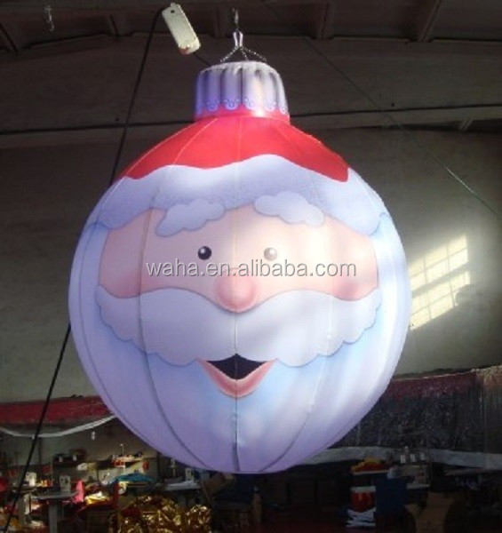 3ft Christmas hanging decoration inflatable/santa/ball/hanging inflatable christmas decoration W198