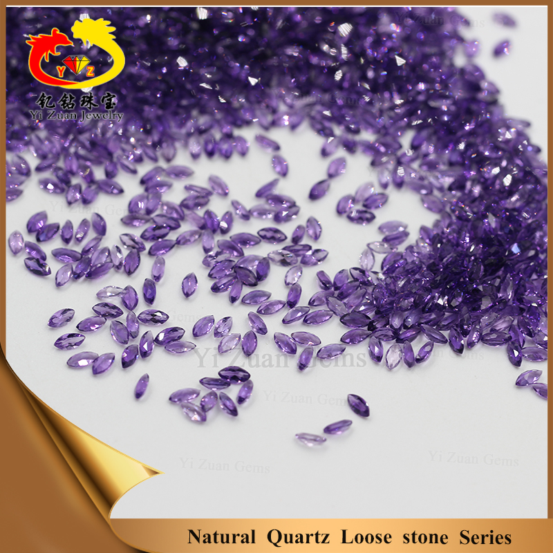 Active demand marquise shape amethyst facet natural loose stones