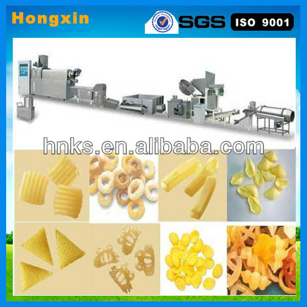 Spicy snack production line/Flavor stick machine /Puffed flour spicy snack machine
