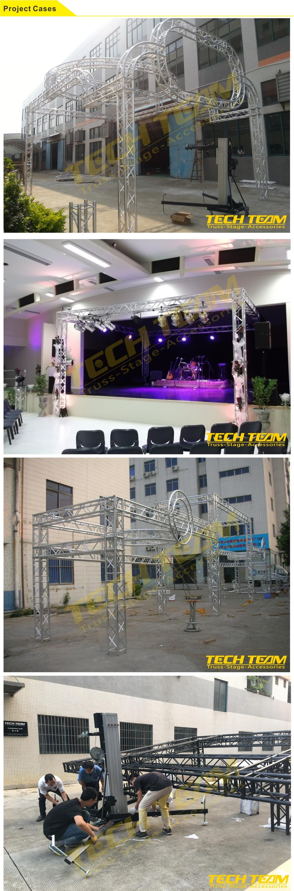 Black Modular Drop Arm moving head light truss stands