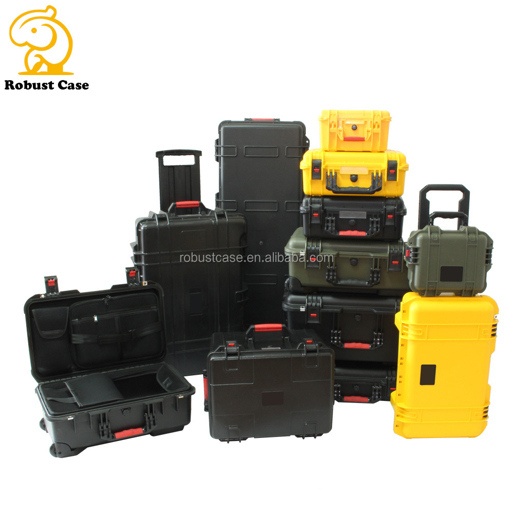 Factory price IP67 Waterproof dustproof shockproof Rugged hard plastic case waterproof equipment tool case with foam and handle