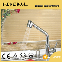 Single handle upc kitchen faucet with chorme plating