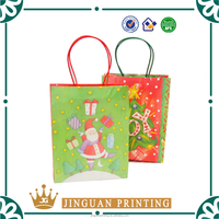 Professional custom printing shopping pack Christmas colored paper bags