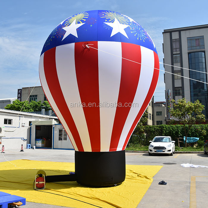 Customized inflatable advertising ground balloon,hot air balloon for sale