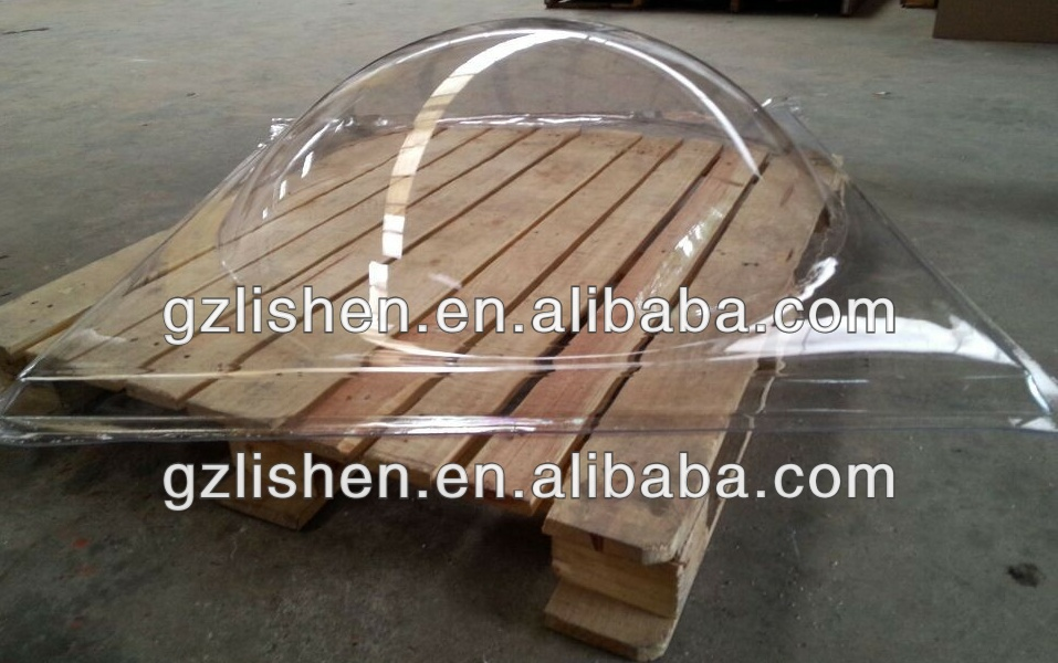 Guangzhou polycarbonate / acrylic clear round skylight / food domes cover