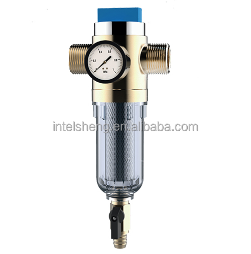 brass household reverse osmosis drinking alkaline water filter/pre-filter plant with pressure gauge