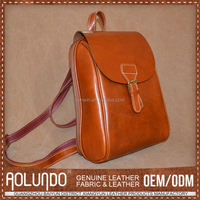 Oem Design Custom Tag Leather Bag Mini Backpack