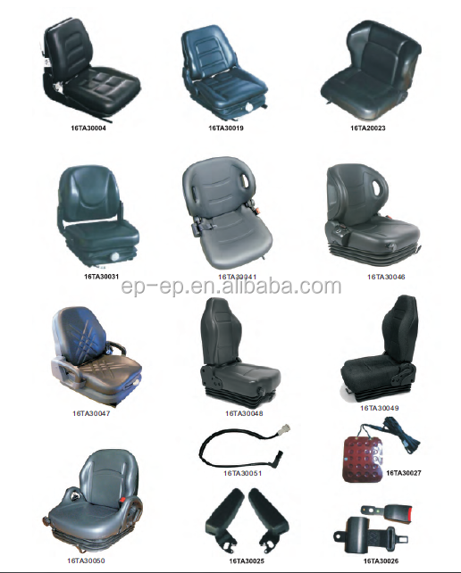 China hot sale all kinds of Forklift Seat/full suspension seat with safety belt ,with safety switch