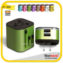 Approved CE&ROHS universal travel adapter/usb wall socket/luminous usb charger for Premium Gift 2014