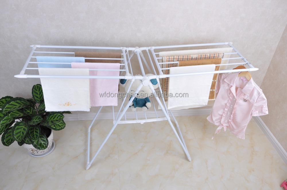 China moving foldable cloth drying rack