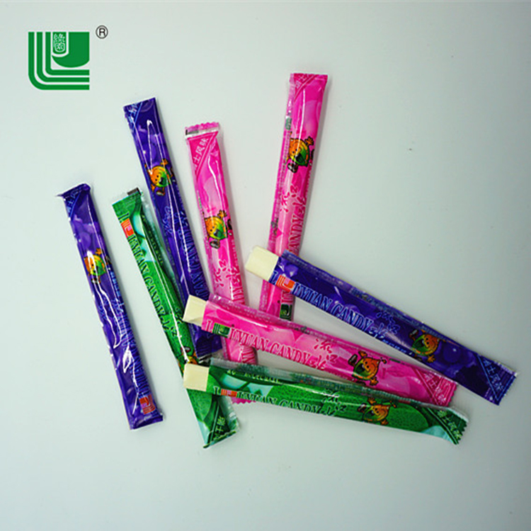 Single small bag fruit chewy flavors stick confectionery milk candy