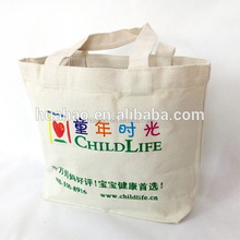 Logo Printed Trade Show Tote Promotional Cotton Canvas Bag For Gift