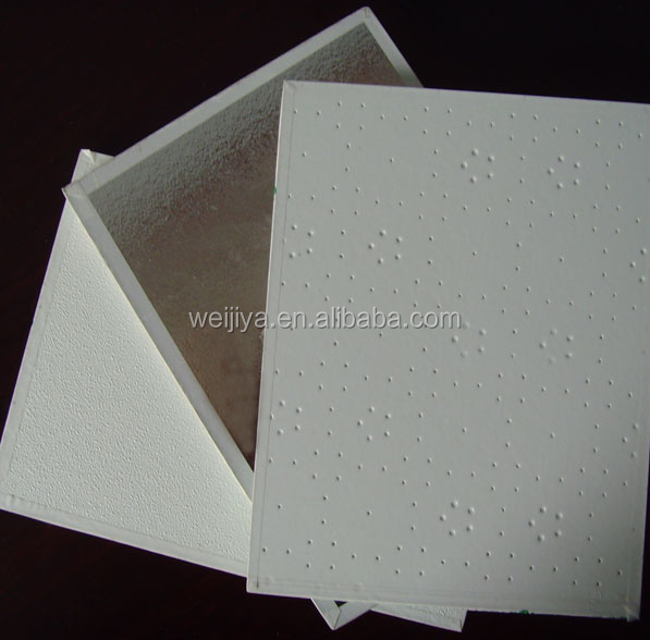 PVC Laminated Gypsum Ceiling Tile / PVC Gypsum Ceiling