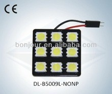wholesale No polarity led lights auto car 9smd dome light