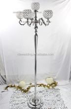 wholesale crystal columns wedding decorations/plastic wedding columns/crystal bead wedding decor lighted