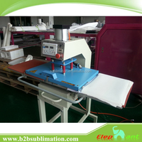 automatic pneumatic single station pyrograph sublimation flat printing heat transfer machine