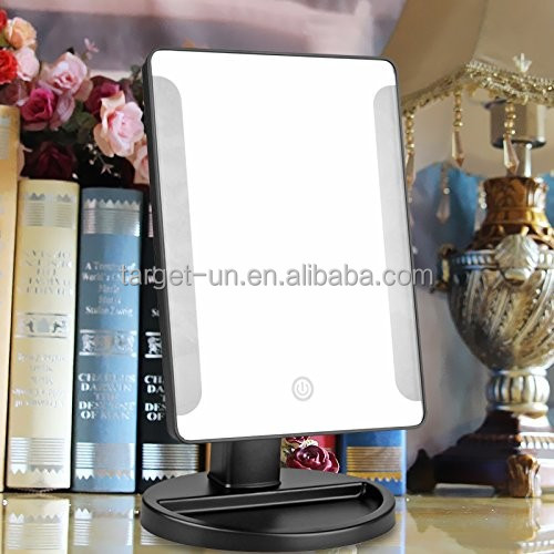 TOP Quality 16 Lights Vanity LED Lighted Dressing Desktop Makeup Mirror led With Touch Screen Sensor Switch