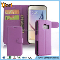 For Samsung Galaxy S7 S7 EDGE Leather Wallet Stand Phone Cases Purple