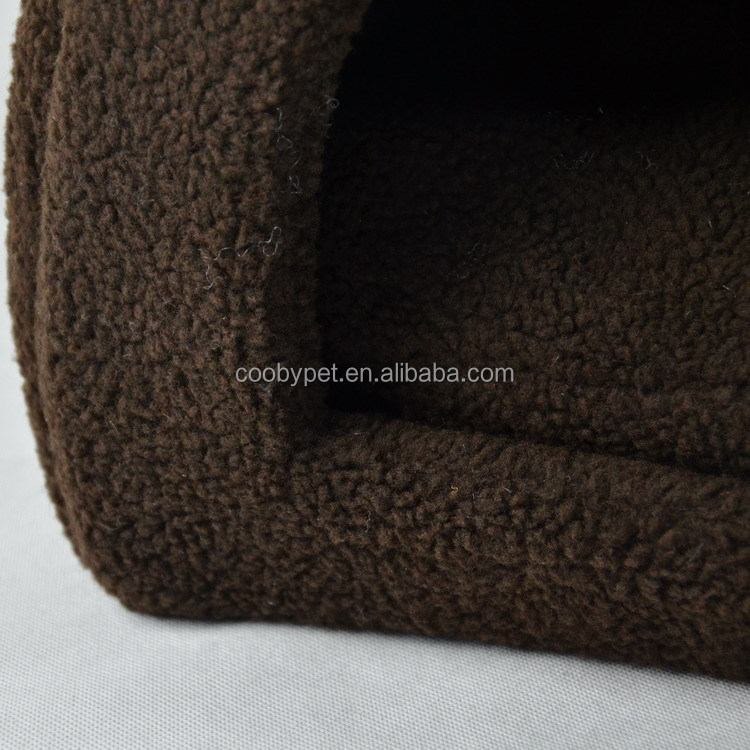 New arrival pet sleeping brown soft indoor dog house