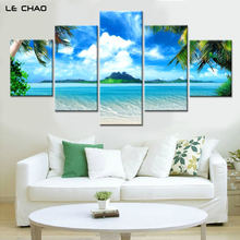 Scenery Canvas Printing Art Customized 5 panel canvas art Printing Dropship Cheap decorative Painting