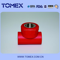 red color ppr iron tee/elbow/coupling china supplier
