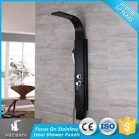 The Most Popular Unique Black Economic Waterfall Massage Shower Panel