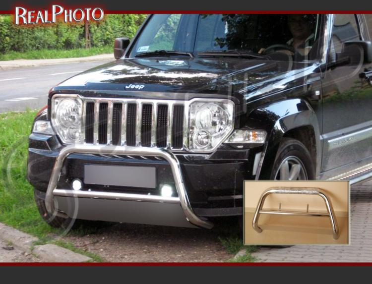 JEEP CHEROKEE KK 2007-2013 BULL BAR, NUDGE BAR , A-BAR , STAINLESS STEEL - HQ! PRODUCT OF EU!