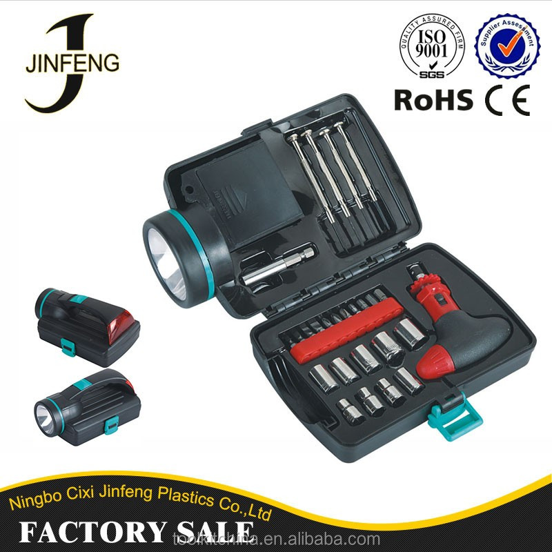 Promotion Car Shape Hand Tool Set And Tool Kit With Flashlight