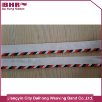 polyester/cotton material piping tape for t-shirts