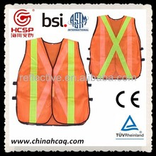 Velcro Tapes Retro Reflective Custom Vest,Industrial Safety Protective Clothing