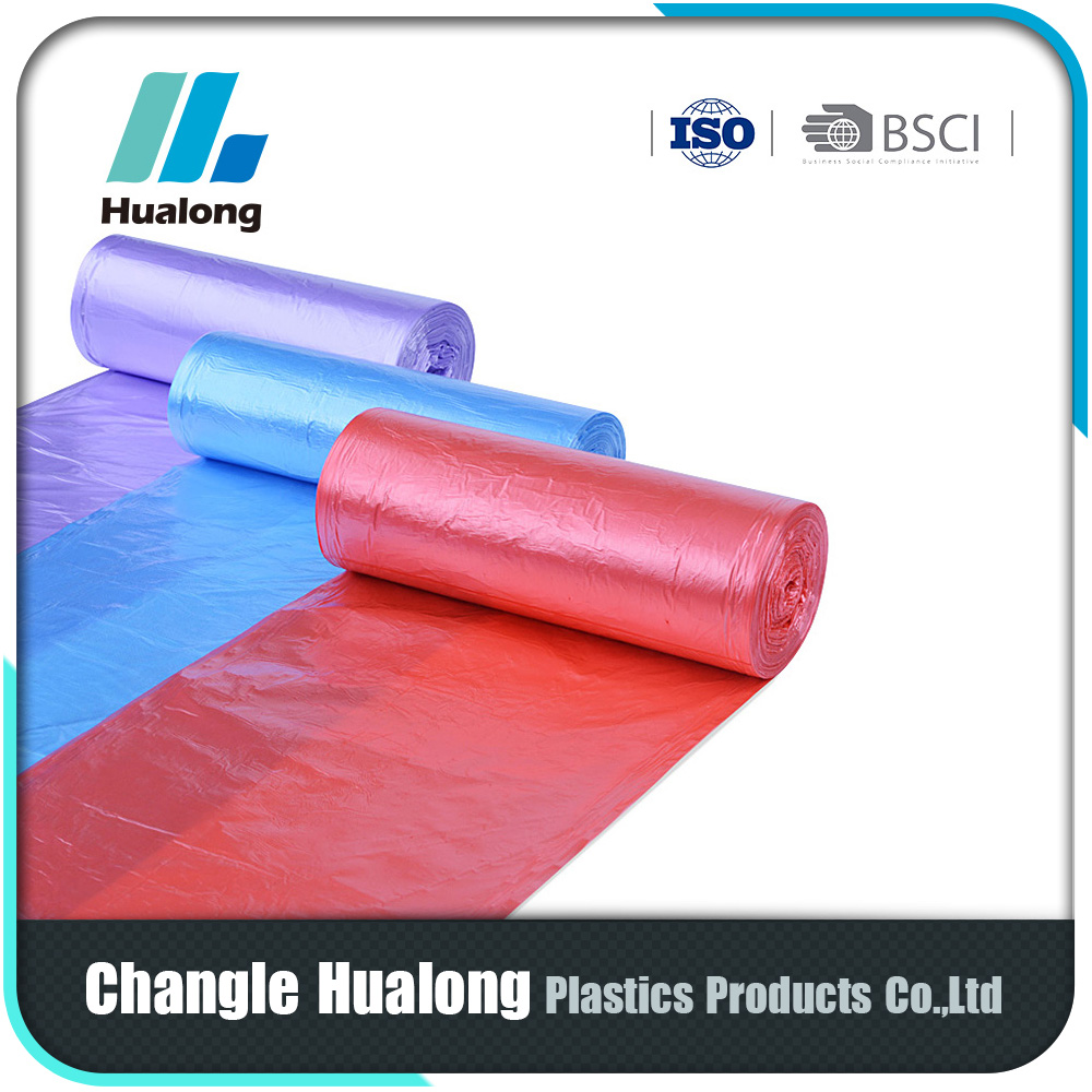 Manufacturer Promotional High Quality Kitchen Garbage Bags With Drawstrings on Roll