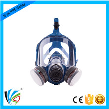 Big View Dual Cartridge Fox Full Face Gas Mask for Toxic Gas in Winter