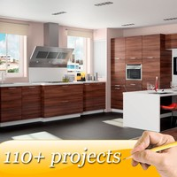 FREE 3D design new model kitchen cabinet commercial kitchen unit
