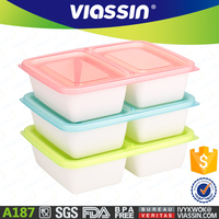A187 microwave plastic lunch box 2 Compartments 750ml