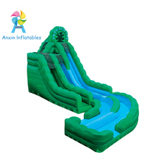Newest design Emerald Ice colors Inflatable 2 Level Water Slide