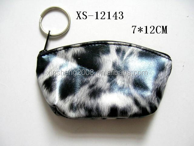 Fashion charming fur printing keyring changes bag promotion gift crafts