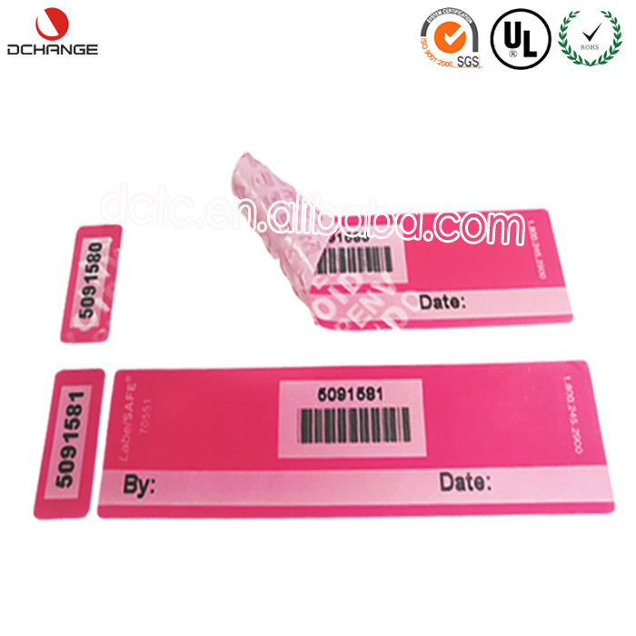 Tamper evident Hot sale open void warranty tamper proof label