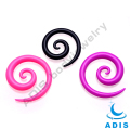 Fashion ear spiral piercing jewelry acrylic ear plugs wholesale