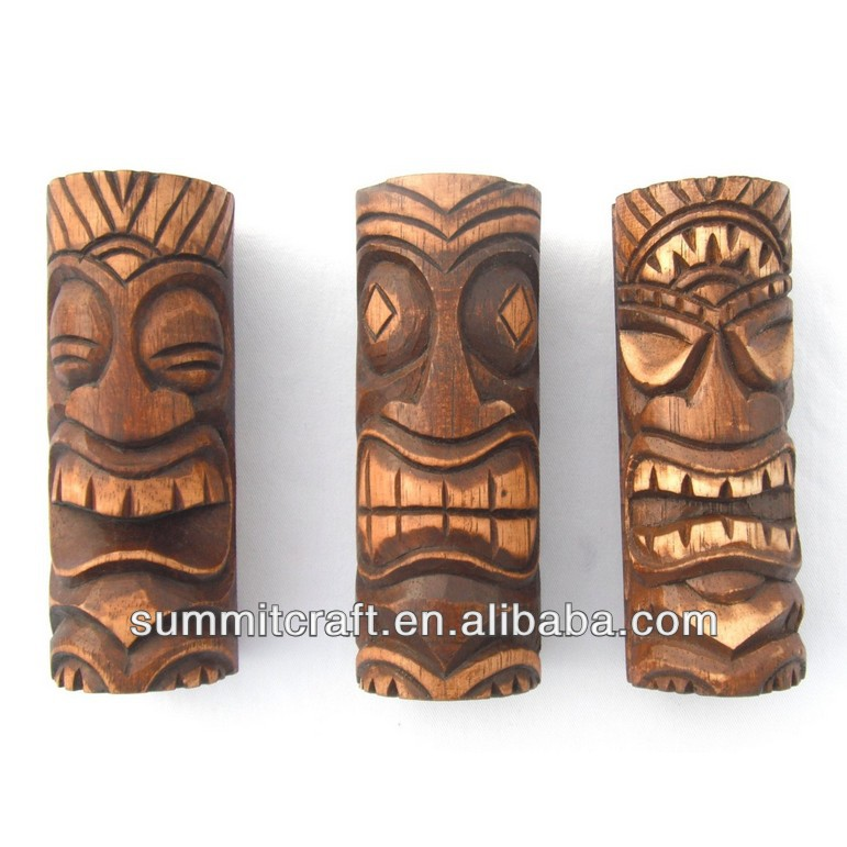 Custom hawaiian resin tiki statue