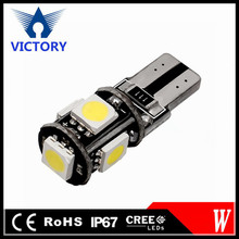 Wholesale Canbus T10 5smd 5050 LED car led Light Canbus W5W 194 5050 SMD Error Free White Light
