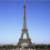 Famous France Eiffel tower metal sculpture