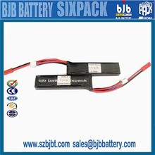 China Factory lipo battery Rechargeable 1500mah 7.4v lithium polymer battery