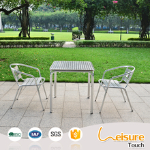 Factory price metal outdoor furniture sets stainless steel bar table with aluminum chairs