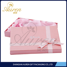 rigid paper box fabric covered folding gift box