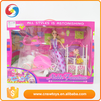New style beautiful custom plastic pink play set doll making supplies china